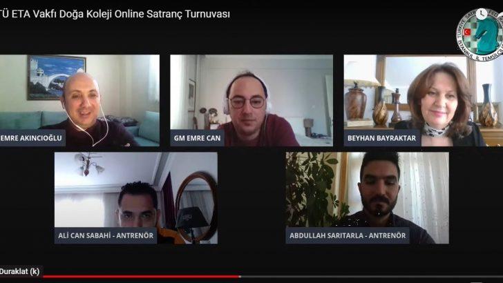 Grand master'lar, online satranç turnuvasında öğrenciler ile buluştu